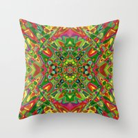 persian Throw Pillows featuring Persian 3 by Glanoramay