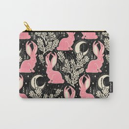 Jackalope - black and pink Carry-All Pouch