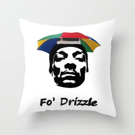 Snoop Dogg - Fo' Drizzle Throw Pillow