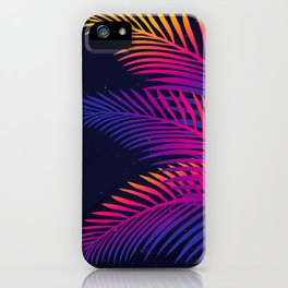 Neon Leaves iPhone Case