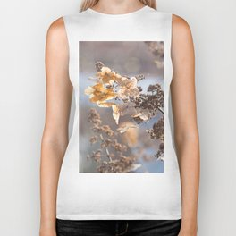 Sunlight through Dried Flowers Biker Tank