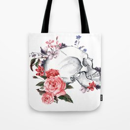 Roses Skull - Death's head Tote Bag