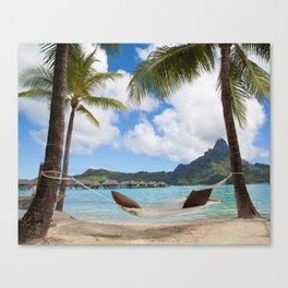 Bora Bora Photography - Tahiti - French Polynesia - Mt Otemanu - Beach - Overwater Bungalow - Fine A Canvas Print