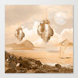 Mission on a far planet Canvas Print