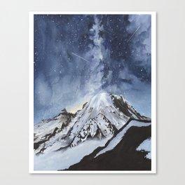 Mount Rainier at Night Canvas Print