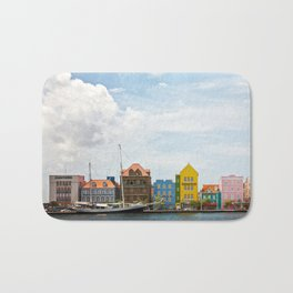 Colorful houses Willemstad Bath Mat