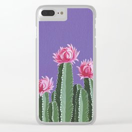 Violet With Envy Clear iPhone Case