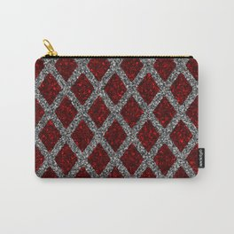 red gray rhombus Carry-All Pouch