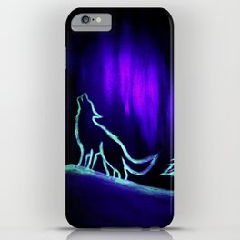 Glow Crying with the Wolves iPhone Case