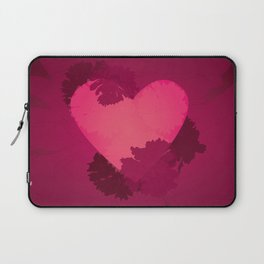 Heart and flowers Laptop Sleeve