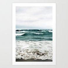 Turquoise Sea #1 Art Print