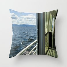 Burlington, Vermont Boat Ride.  Throw Pillow