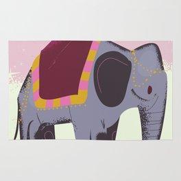 India Elephant travel poster Rug
