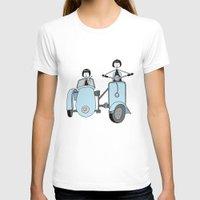 vespa T-shirts featuring Vespa by flapper doodle
