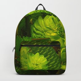 Green Hawaiian Succulents Backpack