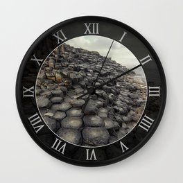 Giant's causeway  at dawn Wall Clock