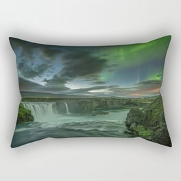 Godafoss Night 1 Rectangular Pillow