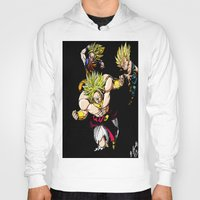 dragonball z Hoodies featuring Broly Dragonball Z by bernardtime