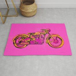 Pop Art Vintage Triumph Motorcycle Rug