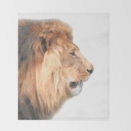 Lion Profile Throw Blanket