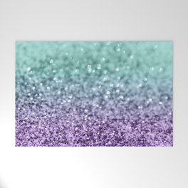 Mermaid Girls Glitter #9 #shiny #decor #art #society6 Welcome Mat