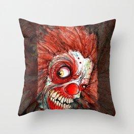 zombie clown Throw Pillow