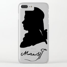 Wolfgang Amadeus Mozart (1756 -1791) silhouette, engraved by Hieronymous Löschenkohl, 1785 Clear iPhone Case