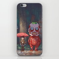 attack on titan iPhone & iPod Skins featuring My Neighbor Titan by Ron Chan