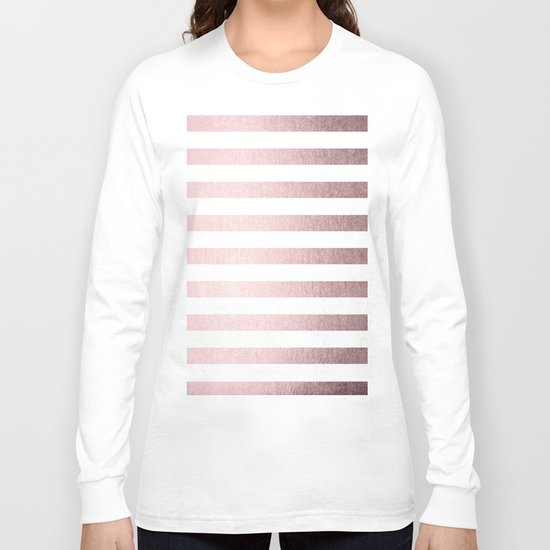 Simply Striped Rose Gold Palace Long Sleeve T-shirt