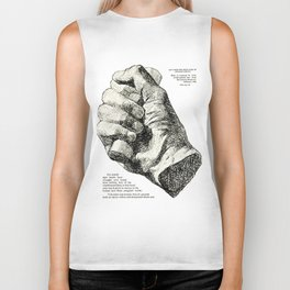 Cast from the Right Hand Of Abraham Lincoln Biker Tank