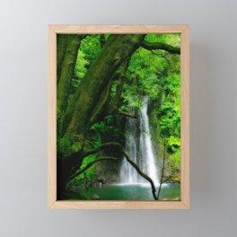 Waterfall in Azores islands Framed Mini Art Print