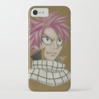 fairy tail iPhone & iPod Cases featuring Natsu - Fairy Tail by Kelly Katastrophe