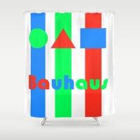 bauhaus Shower Curtains featuring Bauhaus by Retale