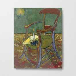 Gauguin's Chair by Vincent Van Gogh, 1888 Metal Print