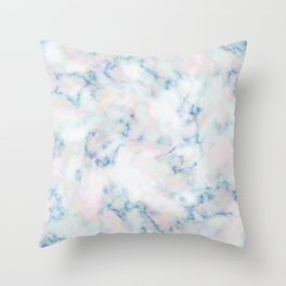Pastel Clouds Stone Texture Surface 46 Throw Pillow