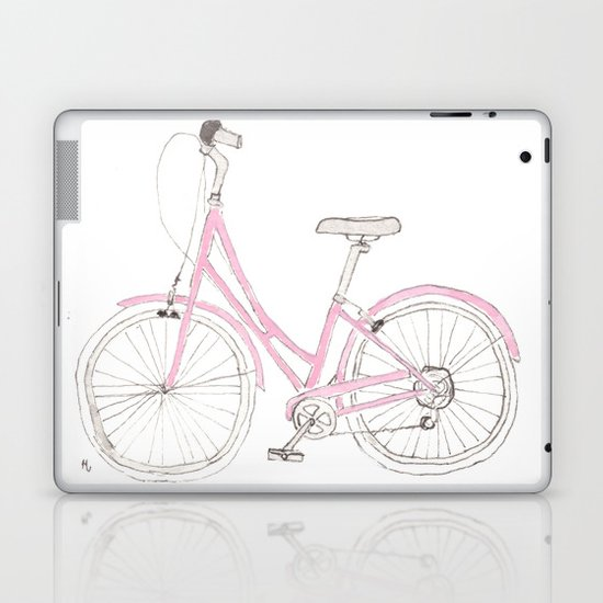 Pink Bike Laptop & iPad Skin