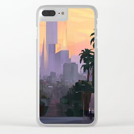 City Sunset Clear iPhone Case