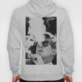 JFK Cigar and Sunglasses Cool President Photo Photo paper poster Hoody