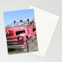 Abandoned Fire Truck Stationery Cards