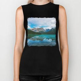 The Mountains and Blue Water - Nature Photography Biker Tank