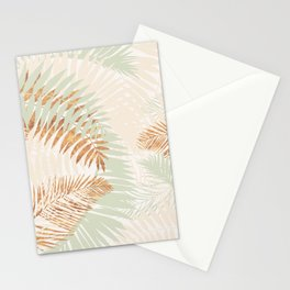 My blush and copper abstract Aloha Tropical Jungle Palm Garden Stationery Cards