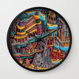 Mumbo Jumbo City (Color) Wall Clock