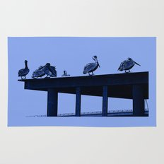 Blue Pelicans Rug