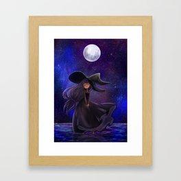 Haunted moonlight Framed Art Print