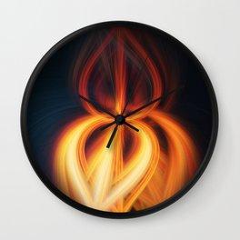 Flame Blossom Wall Clock