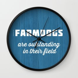 Outstanding Farmdogs Wall Clock
