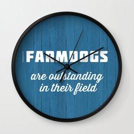 Outstanding Farmdogs Wall Clock