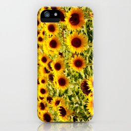 Sunflowers - Loire Valley, France iPhone Case