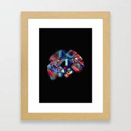 Circle Stacks 2 Framed Art Print