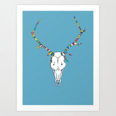 Skull Duggery Art Print